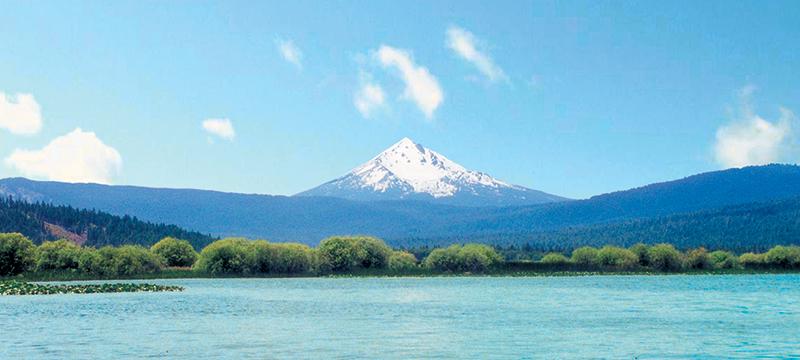 klamath-see, der see der afa-algen, naturschutzgebiet